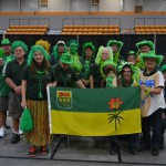 The colorful Saskatchewan delegation