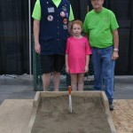 Three generations. Claire Rideout was the youngest participant.