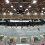 Overall view of the court set-up.