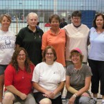 Women's A group: Terrie, Clara, Donna, Sylvianne, Gloria. Front row: Jane, Tammy, Tracy.