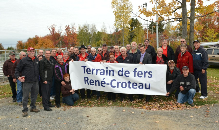 Blainville group at Rene Croteau courts inauguration