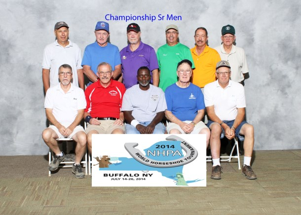 Sr Men group with Duncan McKenzie (sitting 2nd from right)